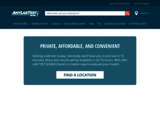 anylabtestnow.com screenshot