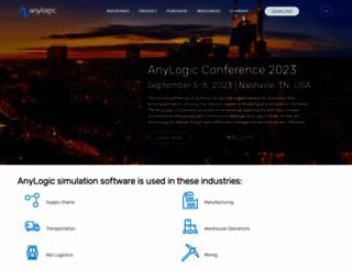 anylogic.com screenshot