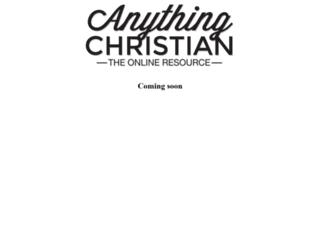 anythingchristian.com screenshot