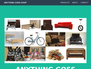 anythinggoesshop.com screenshot