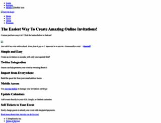 anyvite.com screenshot