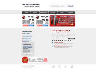 anywherehost.com screenshot