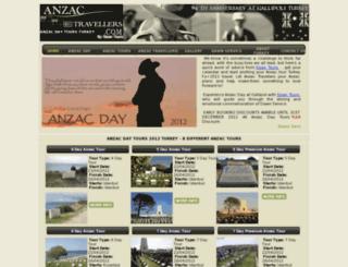 anzactravellers.com screenshot