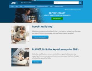 anzbusiness.com screenshot