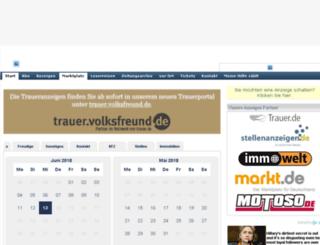 anzeigen.volksfreund-servicecenter.de screenshot