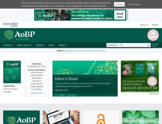 aobpla.oxfordjournals.org screenshot