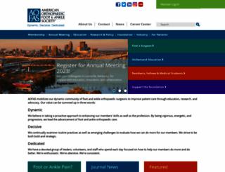 aofas.org screenshot