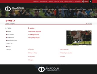 aofmail.anadolu.edu.tr screenshot