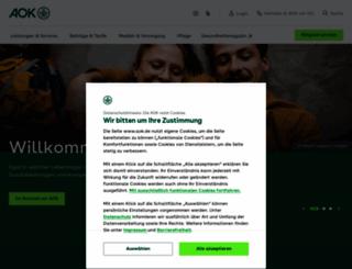 aok.de screenshot