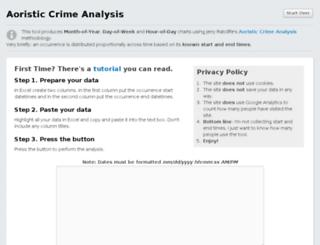 aoristic.policeanalyst.com screenshot