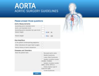 aorticsurgeryguidelines.com screenshot
