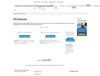 aota.otjoblink.org screenshot