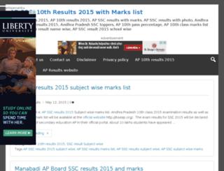 ap10thresults2015.in screenshot