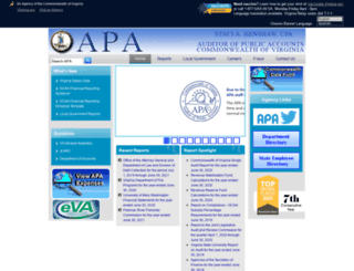 apa.state.va.us screenshot