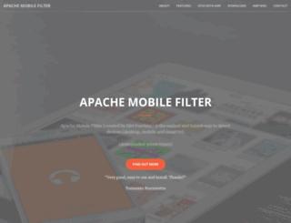 apachemobilefilter.org screenshot