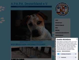 apapa-germany.jimdo.com screenshot