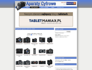 aparaty-cyfrowe.magazyn.pl screenshot