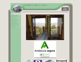 apartamentossierradesegura.com screenshot