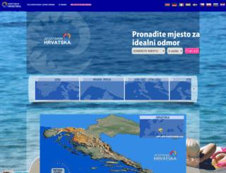 apartmani-hrvatska.com screenshot