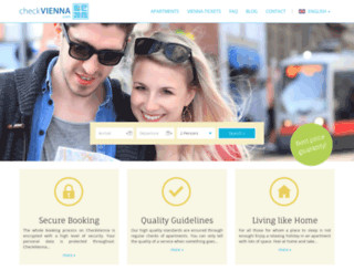 apartment-rentals-vienna.at screenshot