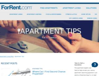 apartment-tips.forrent.com screenshot