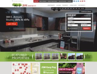 apartments.jsmliving.com screenshot
