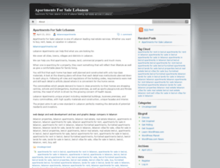 apartmentsforsalelebanon.wordpress.com screenshot