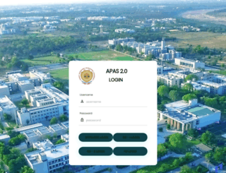 apas.pdpu.ac.in screenshot