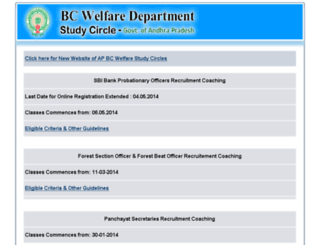 apbcwelfare.cgg.gov.in screenshot