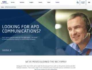 apdcomms.com screenshot