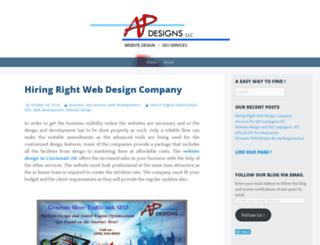 apdesignsonline.wordpress.com screenshot