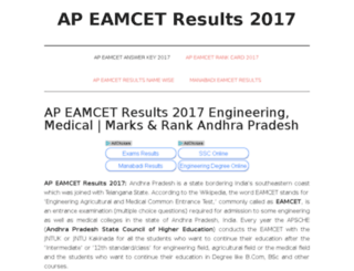 apeamcetresults2017.in screenshot