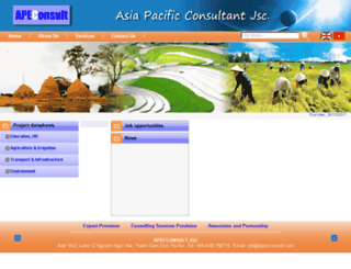 apecconsult.com screenshot