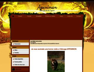 apenimon.chiens-de-france.com screenshot