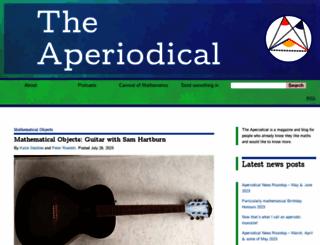 aperiodical.com screenshot