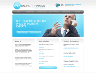 apex-online-it-training.com screenshot