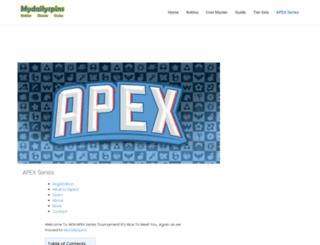 apex-series.com screenshot
