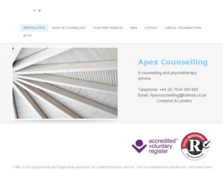 apexcounselling.co.uk screenshot