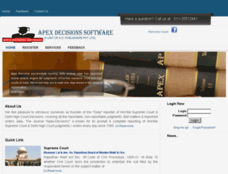 apexdecisionssoftware.com screenshot