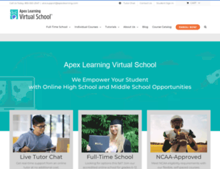 apexlearninghs.com screenshot