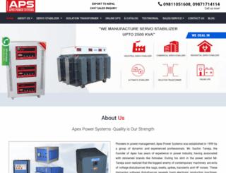 apexpowersystems.com screenshot