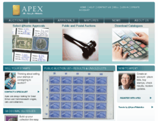 apexstamps.com screenshot