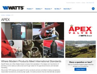 apexvalves.co.nz screenshot