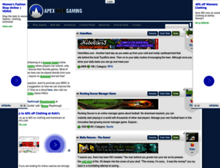 apexwebgaming.com screenshot