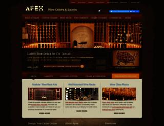 apexwineracks.com screenshot