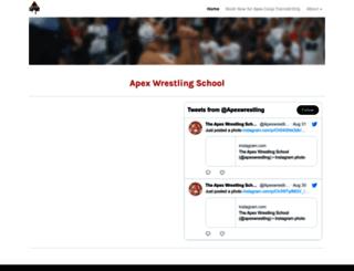 apexwrestlingschool.com screenshot