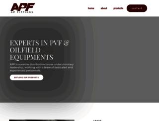 apfittings.com screenshot