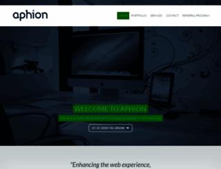 aphion.com screenshot