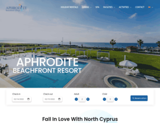aphroditebeachfront.com screenshot