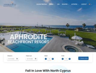 aphroditebeachfront.com screenshot